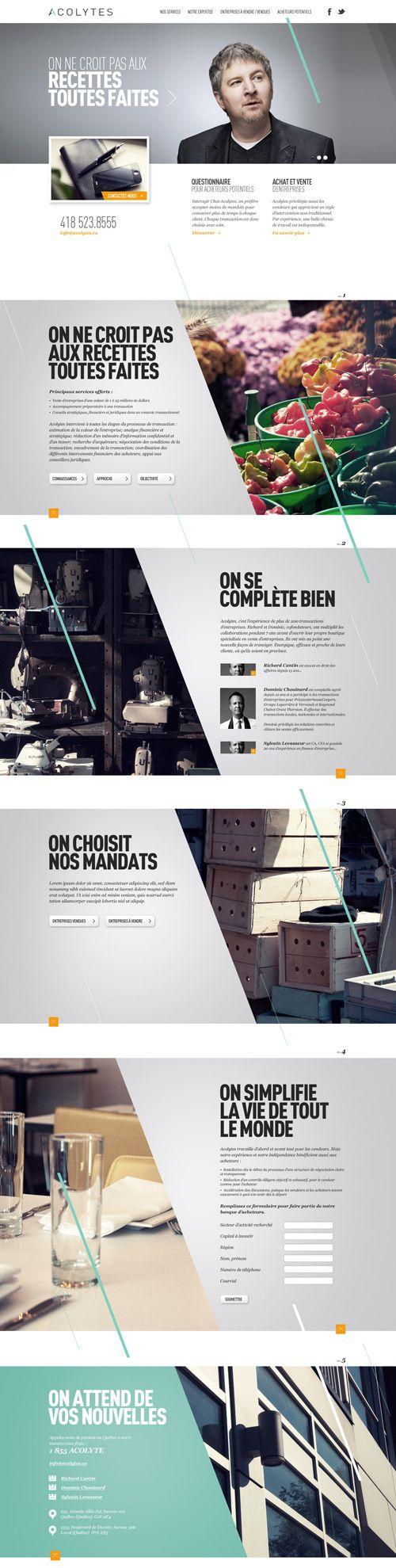 Acolytes by Alexandre Desjardins, via Behance web design