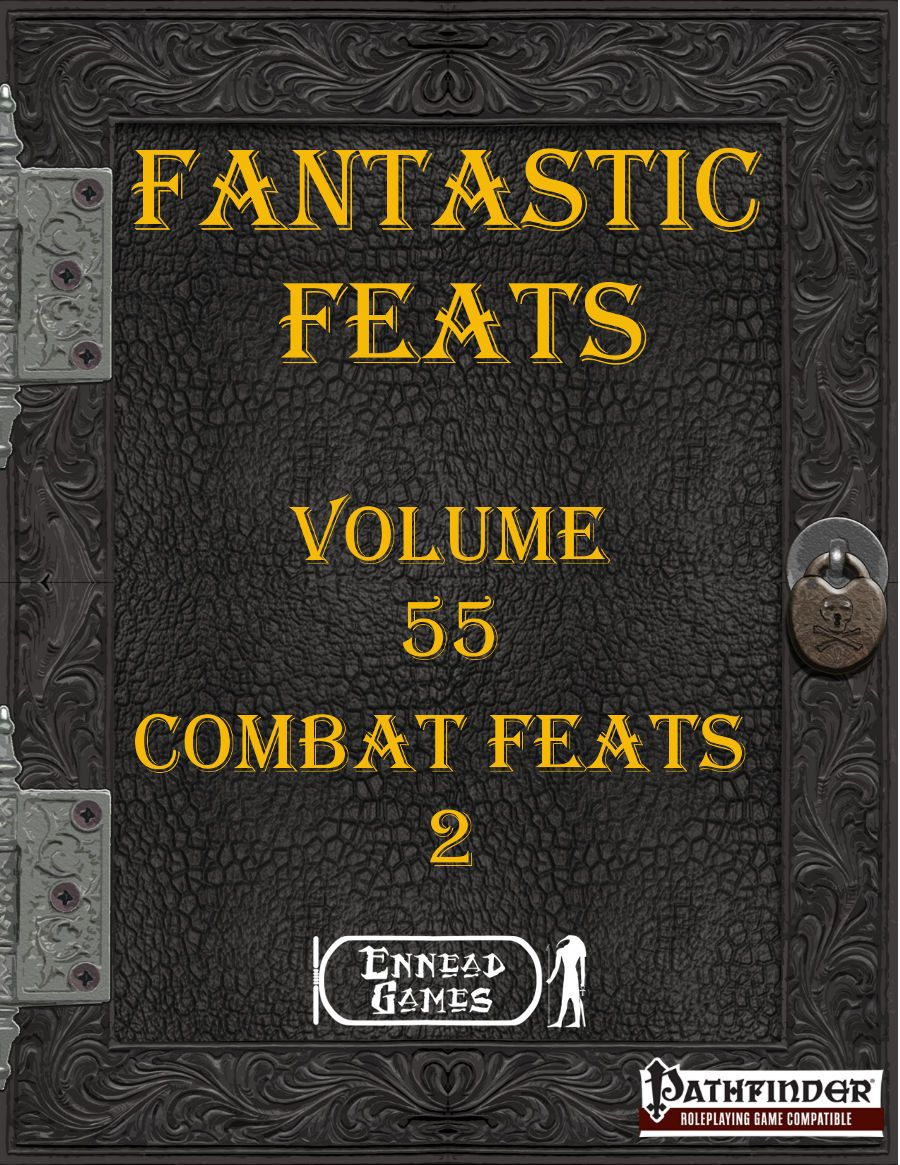 Fantastic Feats Volume 55 Combat Feats 2 Inside you'll find 17 feats in one of four groups  Aimed Attack - 1 Core feat and 4 other related to aim attacksAttacks of Opportunity Feats - 6 feats related to attacks of opportunityFollow Through - 5 feats that grant you a bonus when you kill or knock out an opponentSignature Move - A single feat but with many options for your favourite attacks