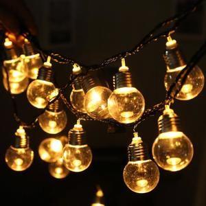 10 DEL C7 Style Verre Ampoule Rétro Intérieur//Extérieur Noël Fairy String Lights