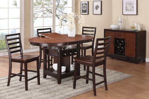 5 Pc Poundex Counter Height Dining Table Set F2222 Products