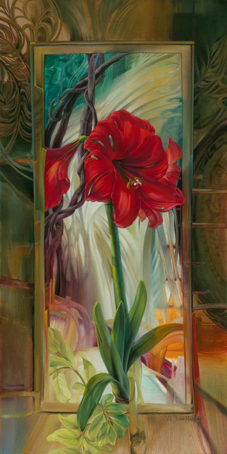 Vie Dunn Harr Found Her Artistic Expression Slowly Yet Deliberately And Continues To Explore The Many Possibi Flower Art Painting Flower Painting Flower Art