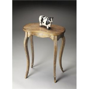 kidney-shaped accent table   Butler Furniture Accent Specialty Butler Praline Kidney-Shaped Table