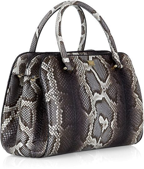 3235018368 Dolce   Gabbana Miss Lily Python Degrade Tote in Black (leopard ...