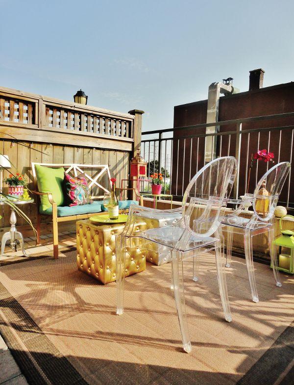 Peque a terraza urbana terraza balcon terrace balcony for Terrazas urbanas diseno