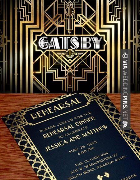 So awesome Oraciones para invitaciones de boda great gatsby
