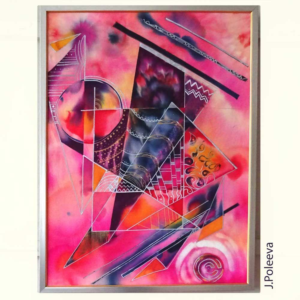 Poleeva Yuliya Batik Abstrakciya 1 Tkan Kraski Dlya Rospisi Po