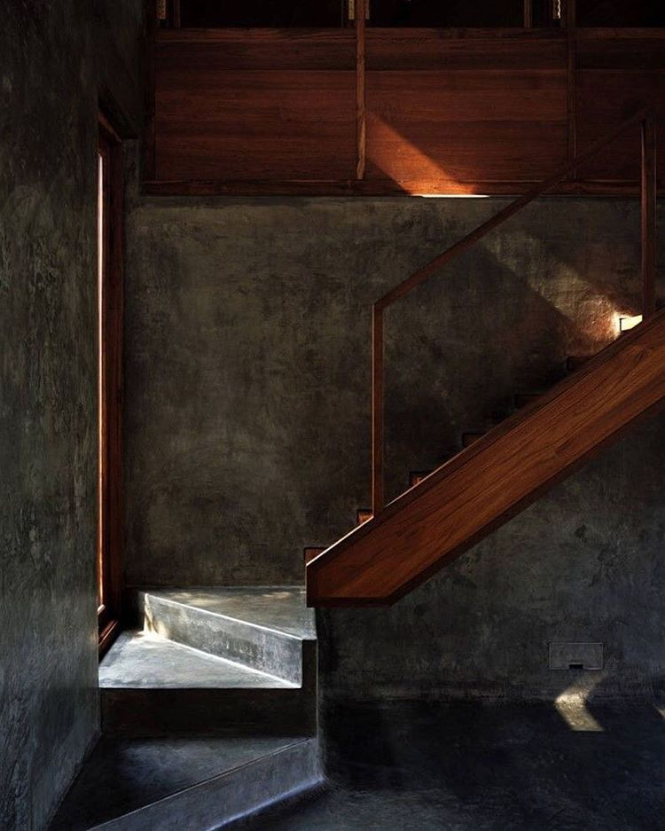 Seriously love this image! Stair detail by @studiomumbai India project Belavali House @archdaily