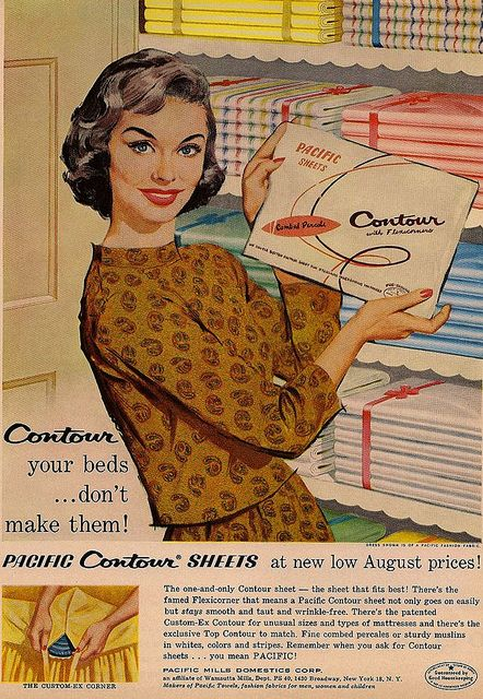 Don't just make your beds, contour them! How grateful I was for these, I never tucked in the corners as well as my mother liked.