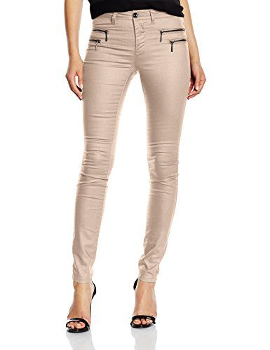 ONLY Damen Skinny Hose Onlnew Olivia Coated Pant Noos Only
