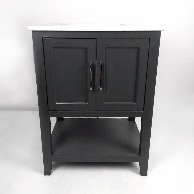 Meuble en bois avec vasque, gris foncé 60cm, Cottage Pinterest