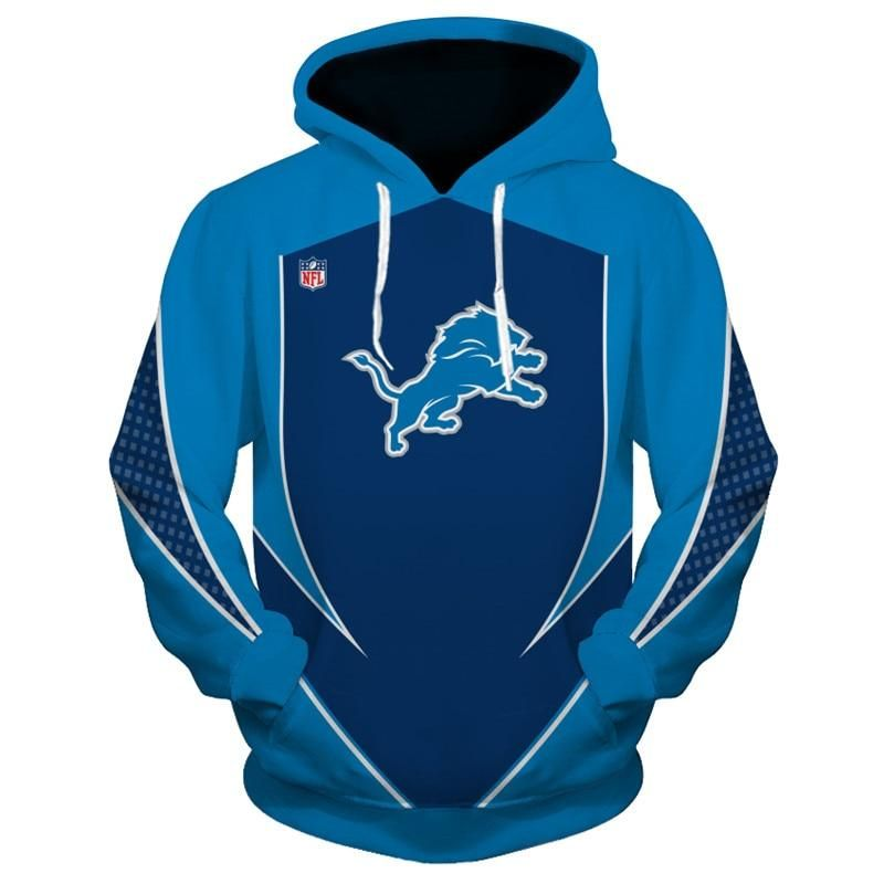 Detroit Lions Hoodie 3D Football Sweatshirt Pullover NFL in 2019