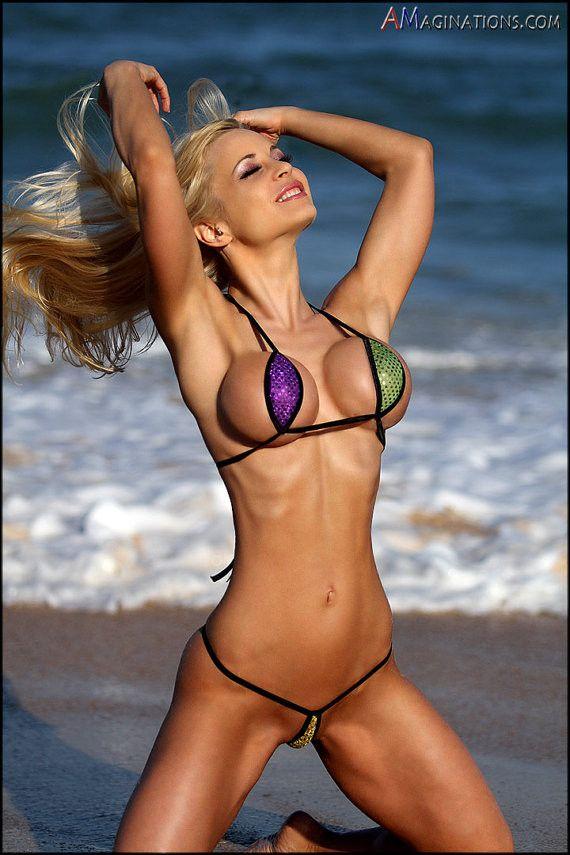 Bikini girl in string thong