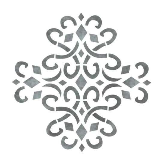 Stencils | Accent | Medieval Medallion - Stencilease.com