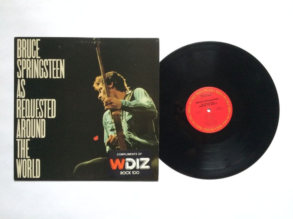 Bruce Springsteen As Requested Around The World Promo Vinyl Record Lp As978 Vinyl Records Records Songwriting