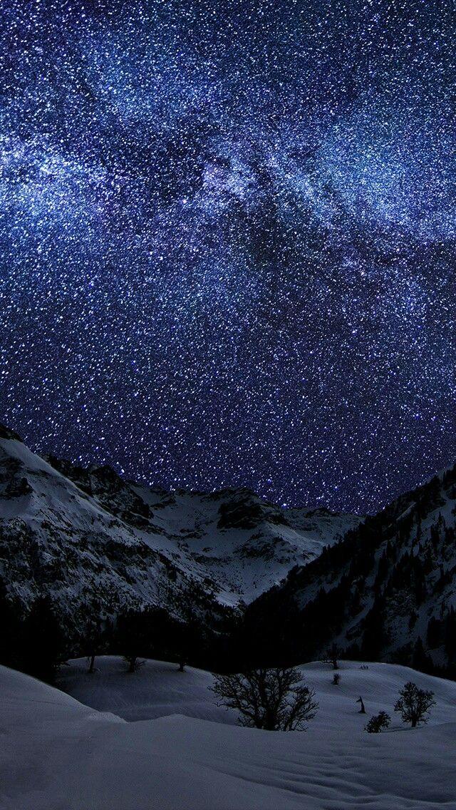 Billion Stars Mountain Scenary Wallpaper Galaxy Night Sky