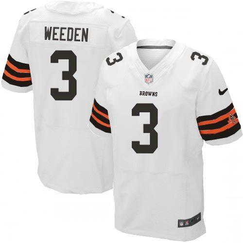 Brandon Weeden Jersey Youth Nike Cleveland Browns #3 Elite White ...
