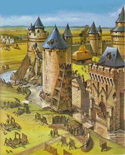 Coloriage Attaque Chateau Fort.Attaque D Un Chateau Fort Got Chateau Fort Coloriage