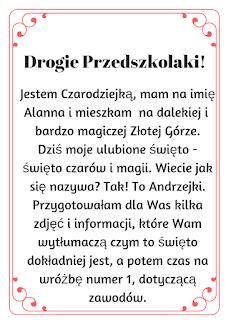 Andrzejki W Przedszkolu Pomysly I Pomoce Dydaktyczne Zajecia Dla Maluchow Segregator Nauczyciela Przedszkolne Materialy Dydaktyczne