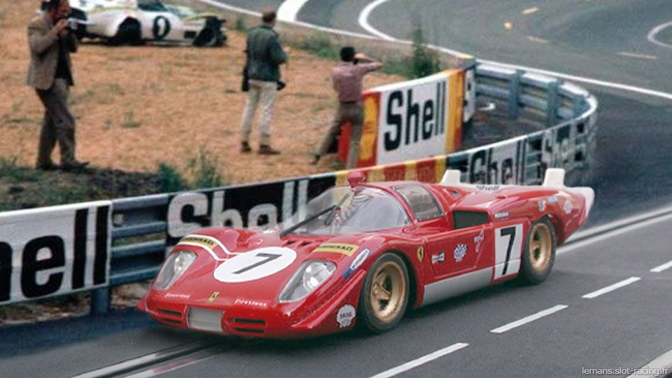 24 Heures Du Mans 1970 Ferrari 512s 7 Pilotes Derek Bell