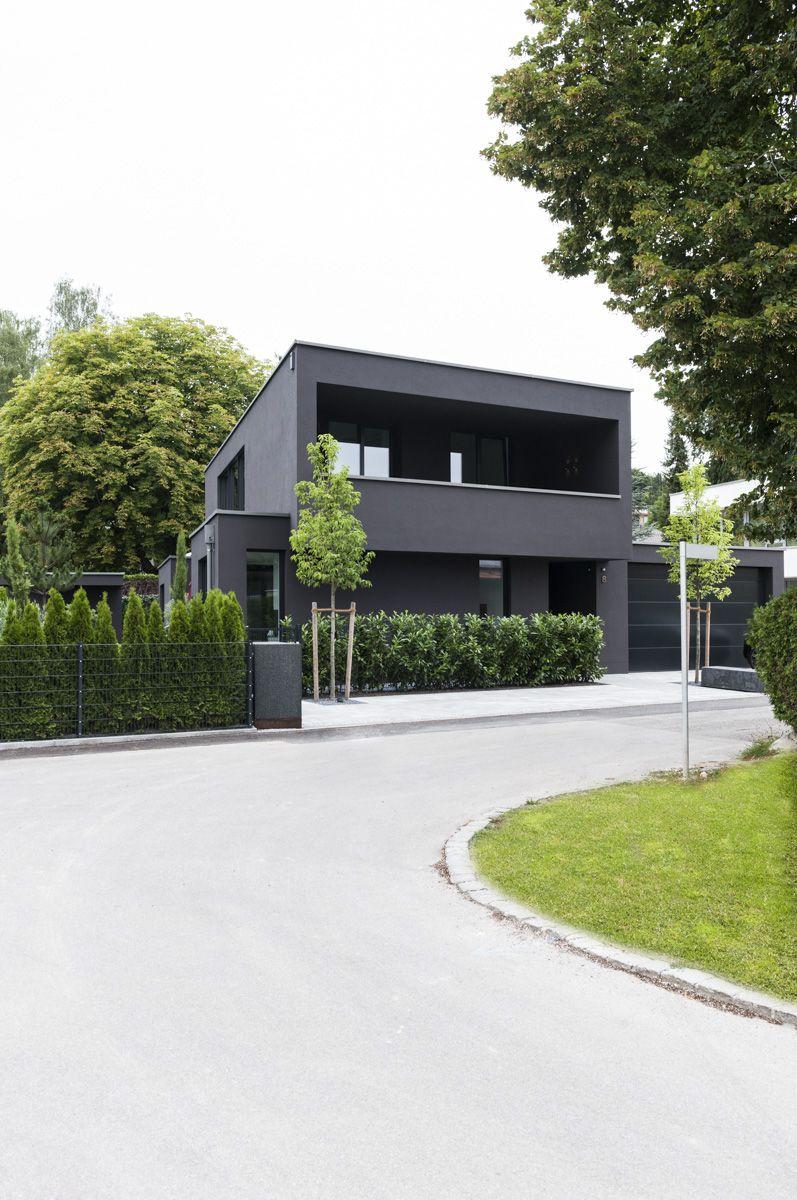 Haus ideen einfamilienhaus wohnhaus haus aussen bauhausstil haus mit einliegerwohnung häuser modern hausfarben vorgarten modern