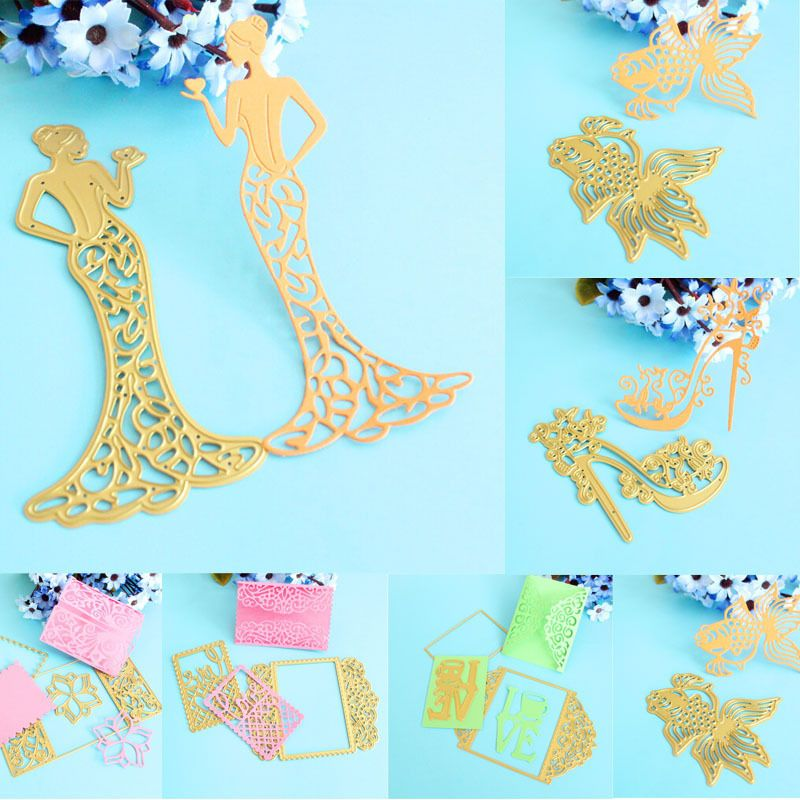 THANKS Wavy Metal Cutting Dies Stencil Scrapbooking Card Embossing Lovely