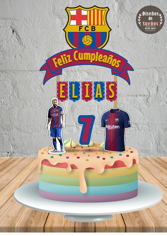 This Ad Is For A Digital File For Diy Printing No Physical Product Will Be Shipped This Ad Is For A Printable Cake Barcelona Cake Cake Toppers Cakes For Boys