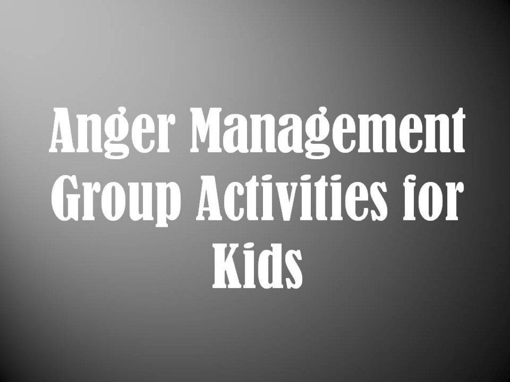 Anger Management Group Activities for Kids: Mental Health Groups ...