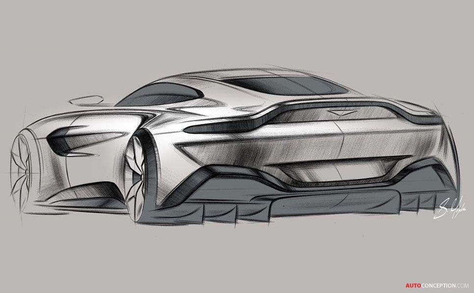 Car Design Sketch 2018 Aston Martin Vantage Design Sketch Pencil
