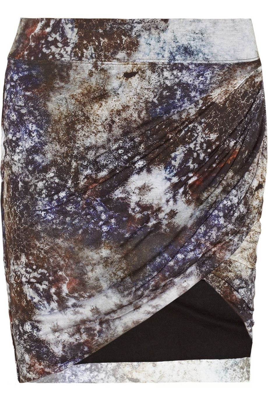 Twisted printed modal skirt  by Helmut Lang