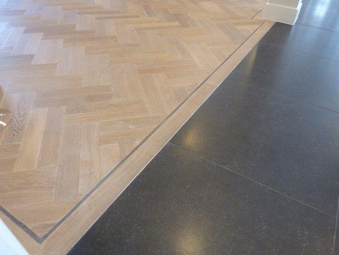 Houten Vloer Tegels : Overgang houten vloer naar tegel floor in flooring