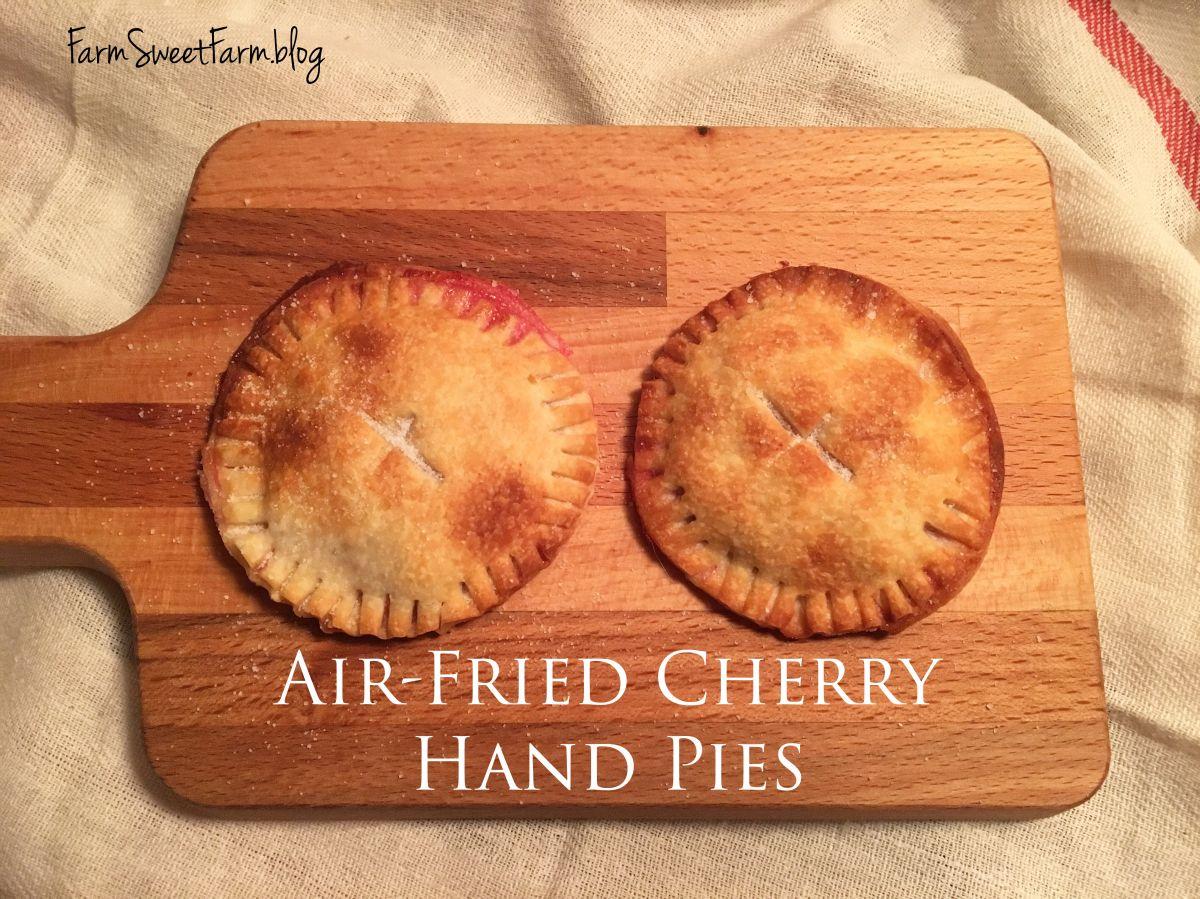 Air Fried Cherry Hand Pies 🍒🍒🍒 Cherry hand pies, Hand