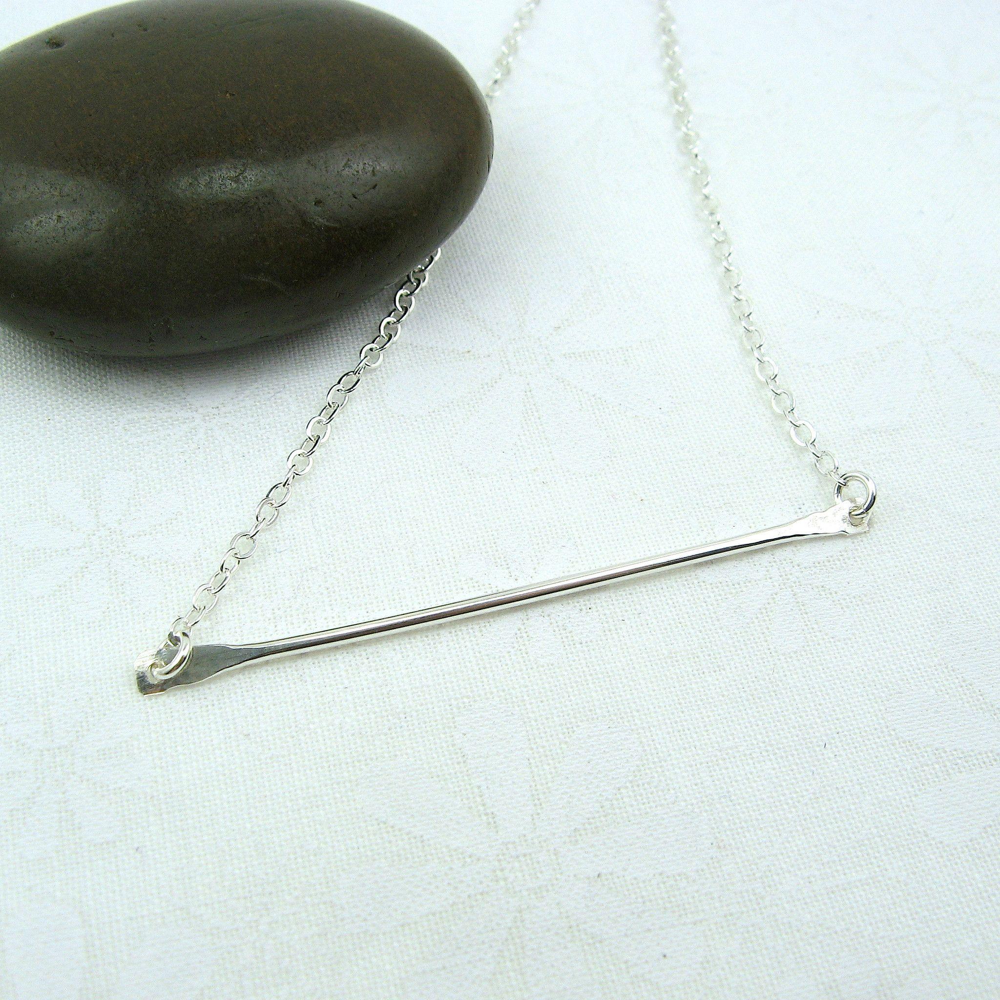 bar necklace, horizontal