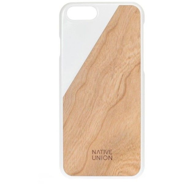 Native Union CLIC Wooden Case for iPhone 6/6s White/Chestnut ($50) ❤ liked on Polyvore featuring accessories, tech accessories and native union