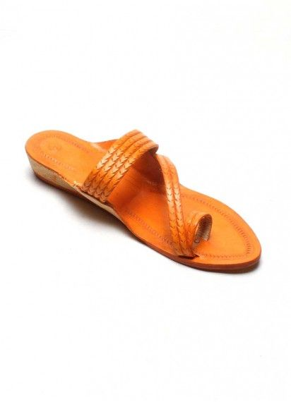 3ab5845da0afdd Authentic Kolhapuri Chappal Ladies Die Weny Side Patta T Strap Sandals