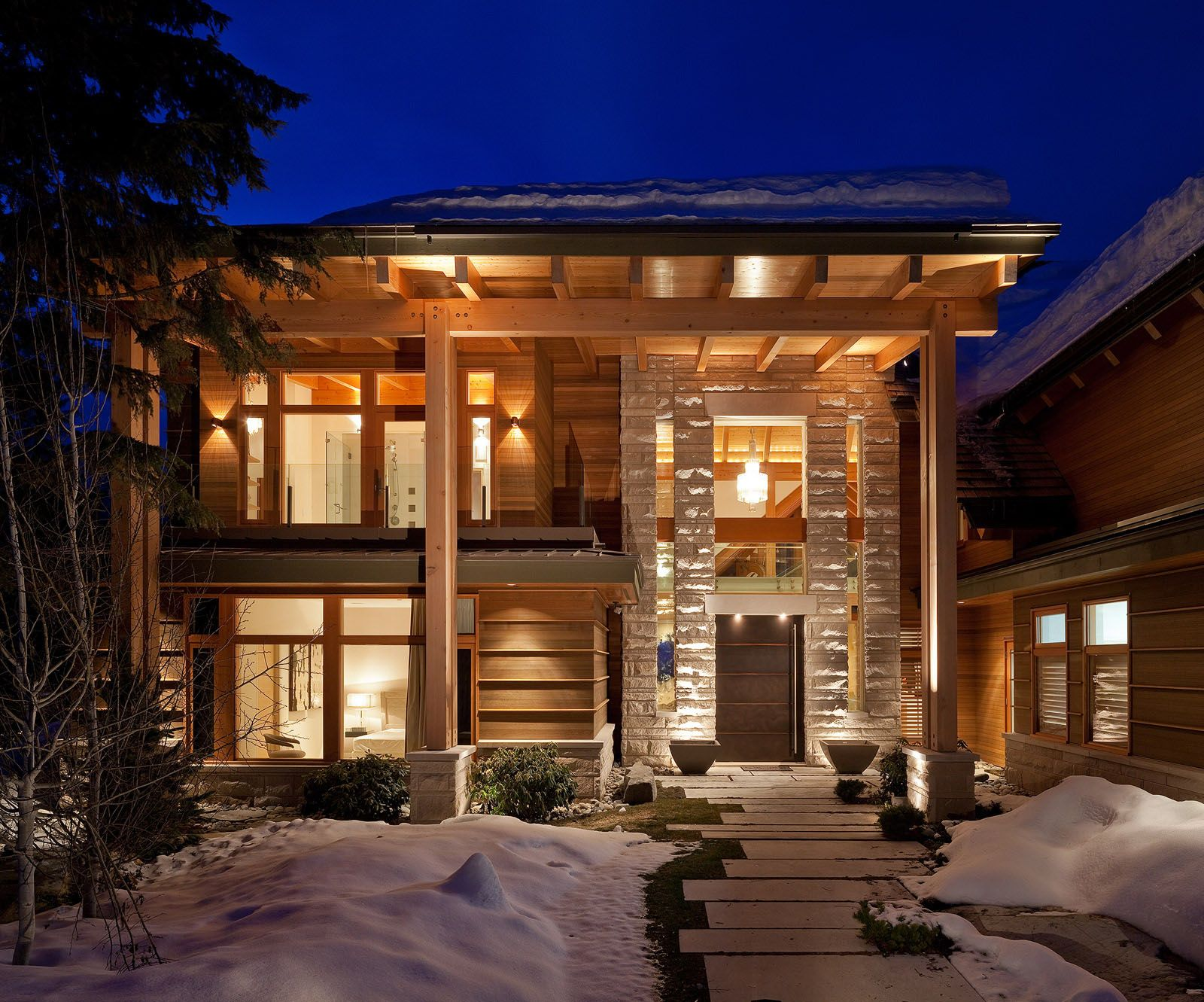 Luxury timber frame mountain retreat in whistler home for Luxury timber frame home plans