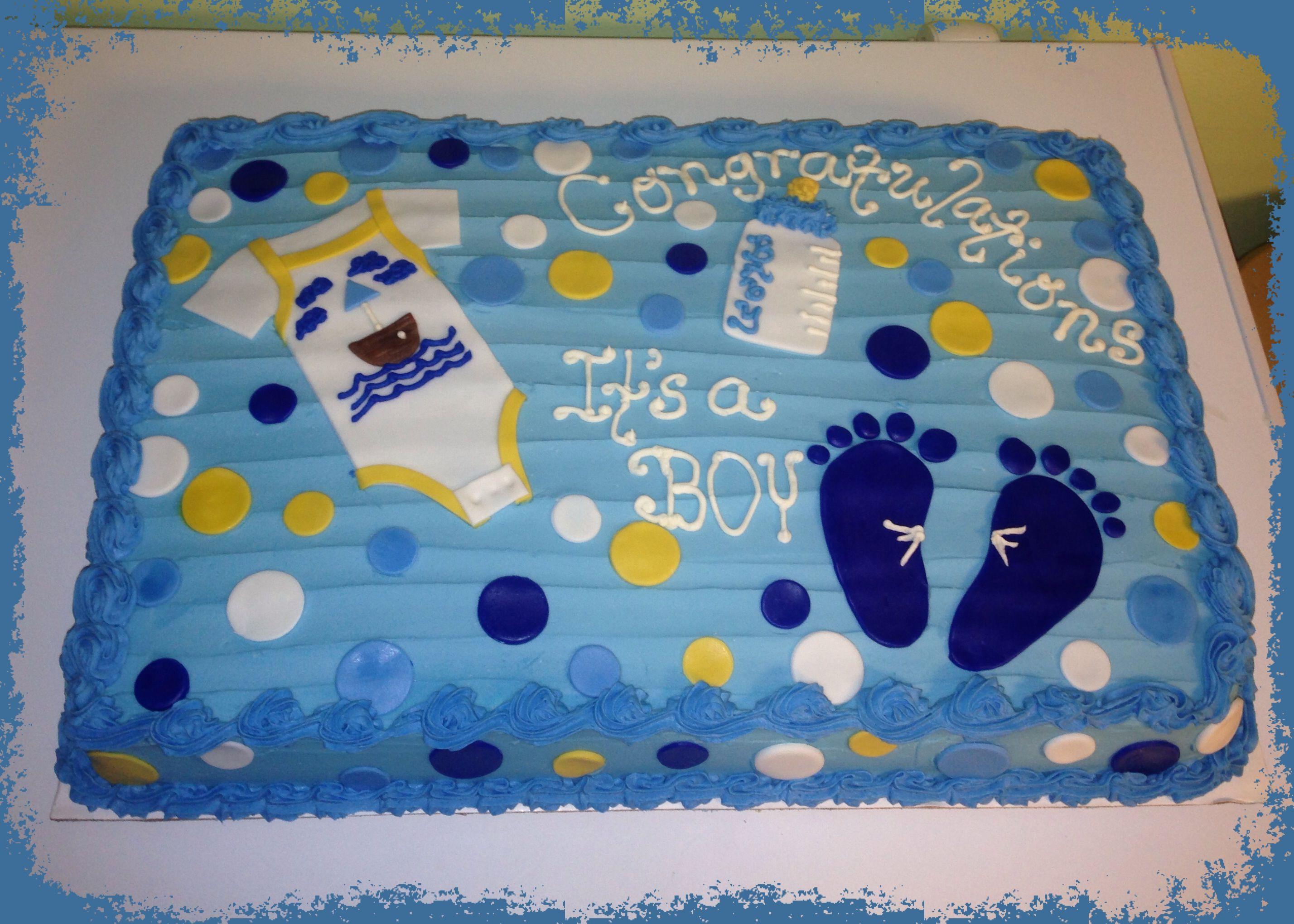 Boy Baby Shower 1 2 sheet cake Food & drink Pinterest