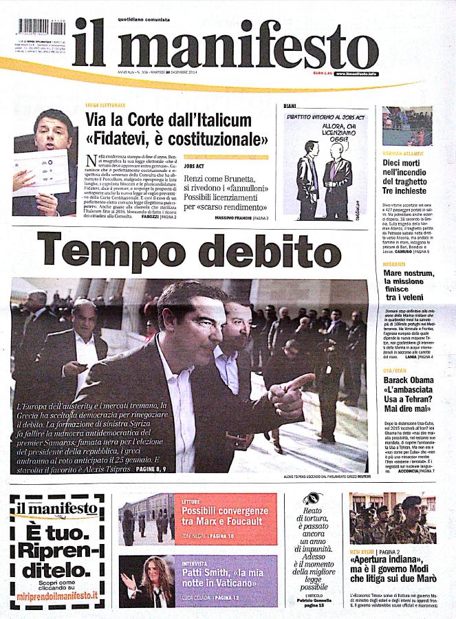 Fotorassegna Stampa I Giornali Di Martedì 30 Dicembre 2014