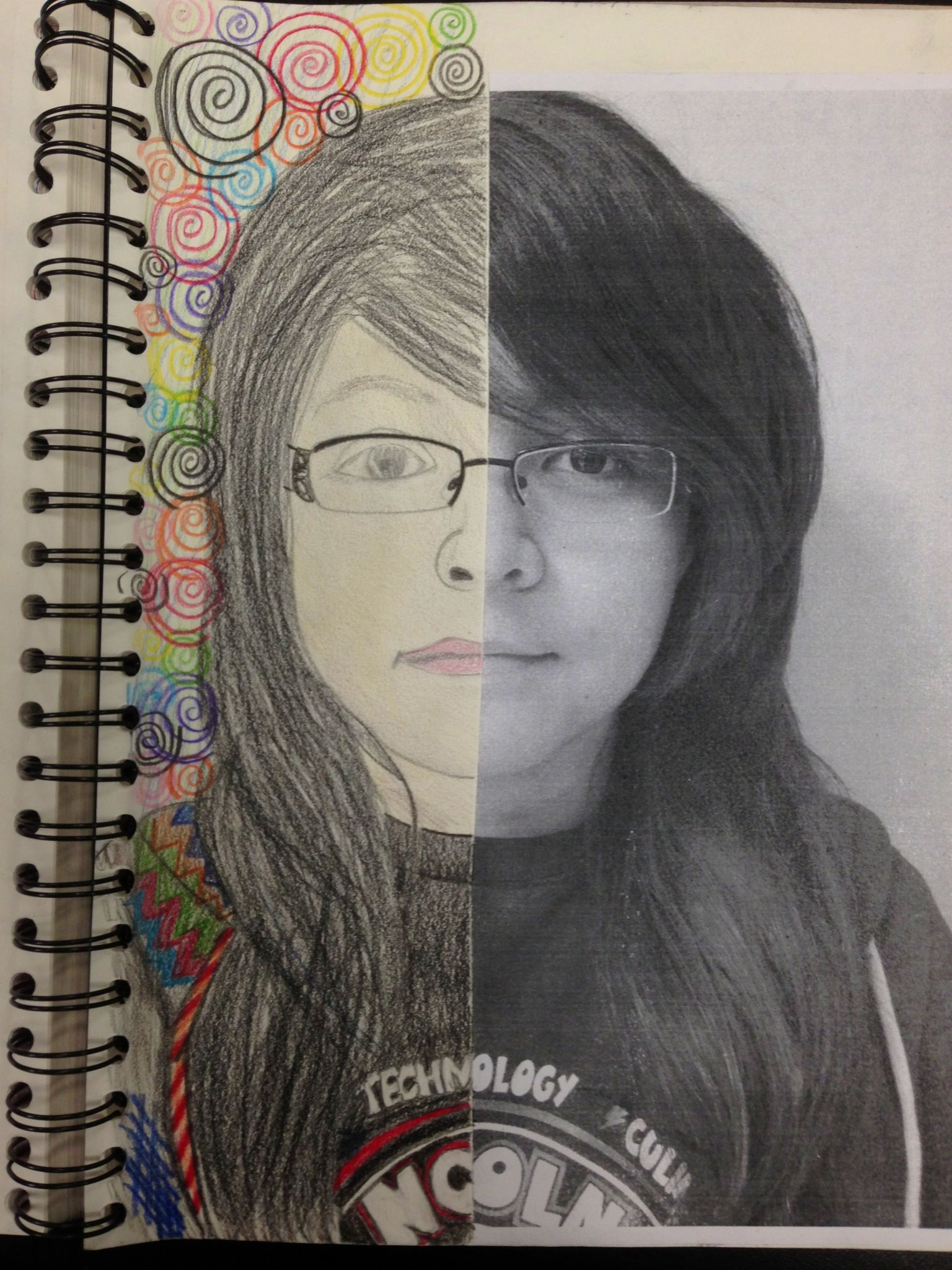 Student Self Symmetry Portrait With Images