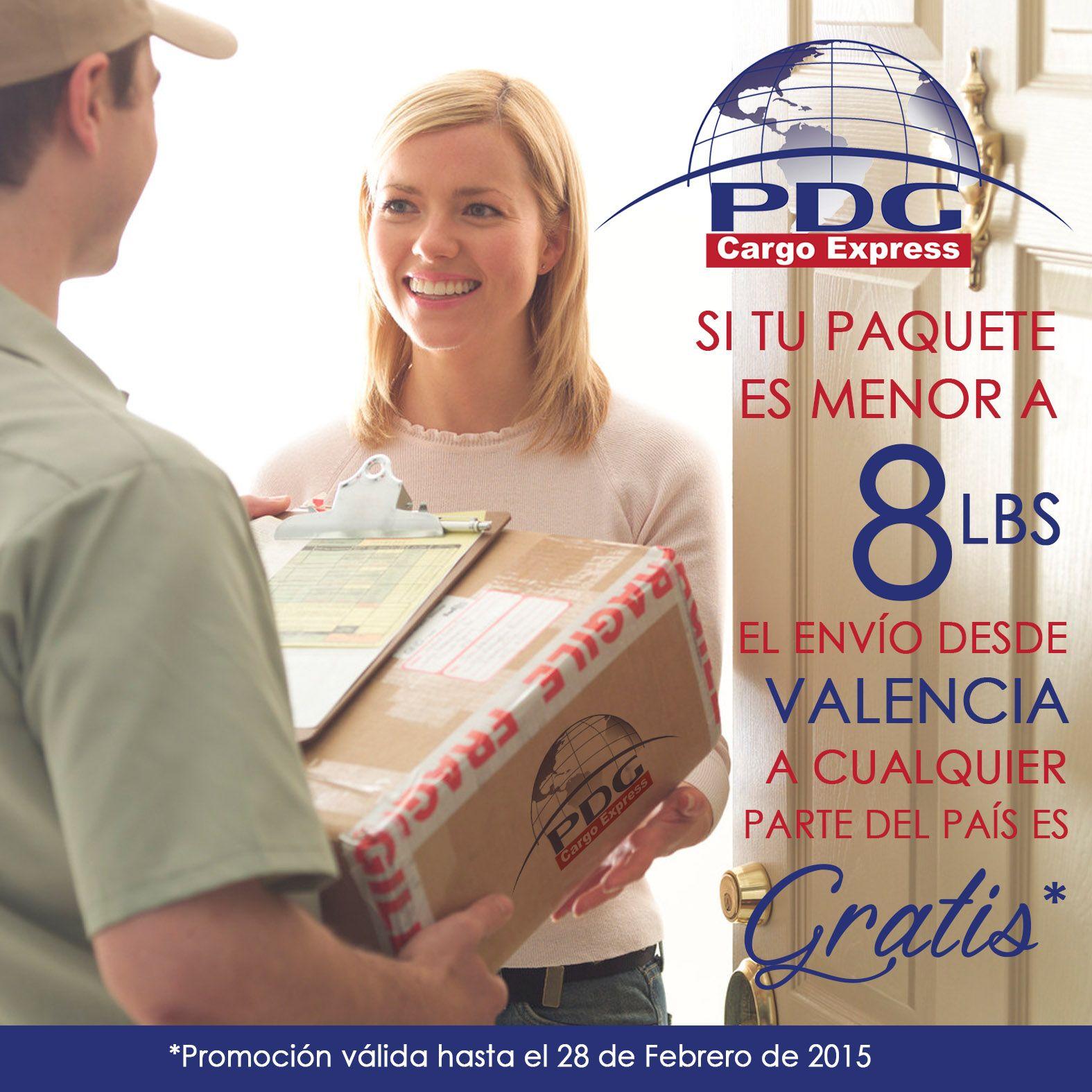 Volvió nuestra promoción, sí tu paquete pesa menos de 8 Lbs el envío de Valencia a cualquier parte del país te sale gratis @pdgcargoexpress #PDGCargoExpress
