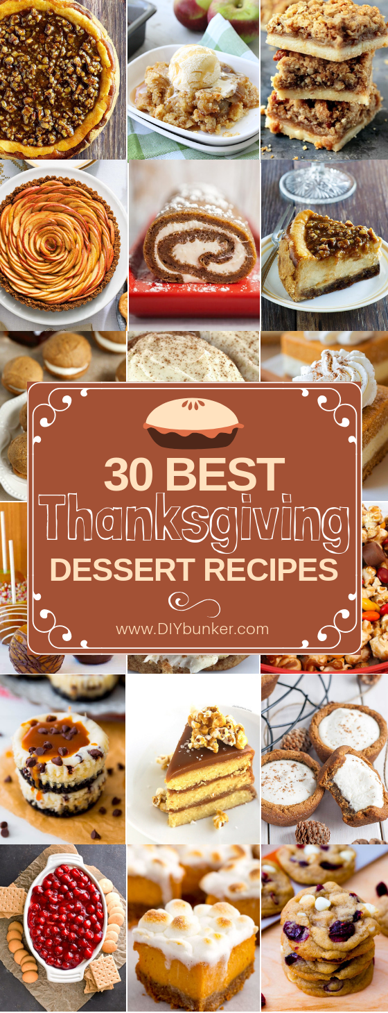 30 Easy Thanksgiving Desserts for a Crowd