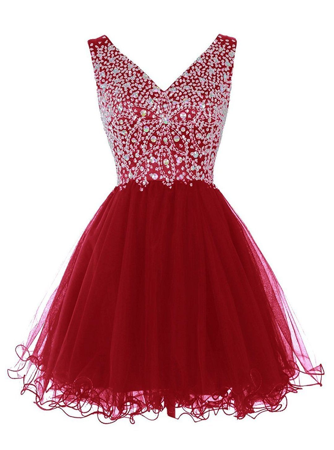 b628fda54d8 Women s Short V Neck Homecoming Dress Fitted Formal Gowns With Beads Sequins