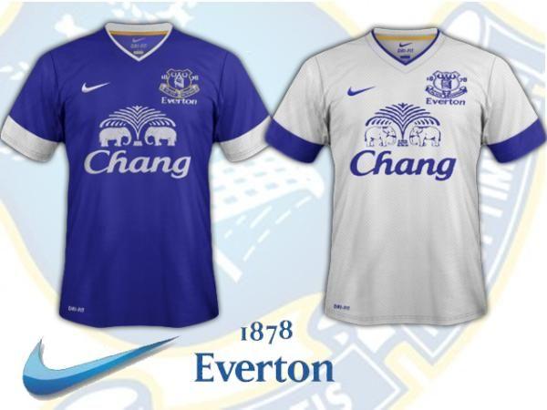 CHANG BEER, FOOTBALL SPONSORSHIP, EVERTON; PREMIER LEAGUE, ISLAND - clothing sponsorship