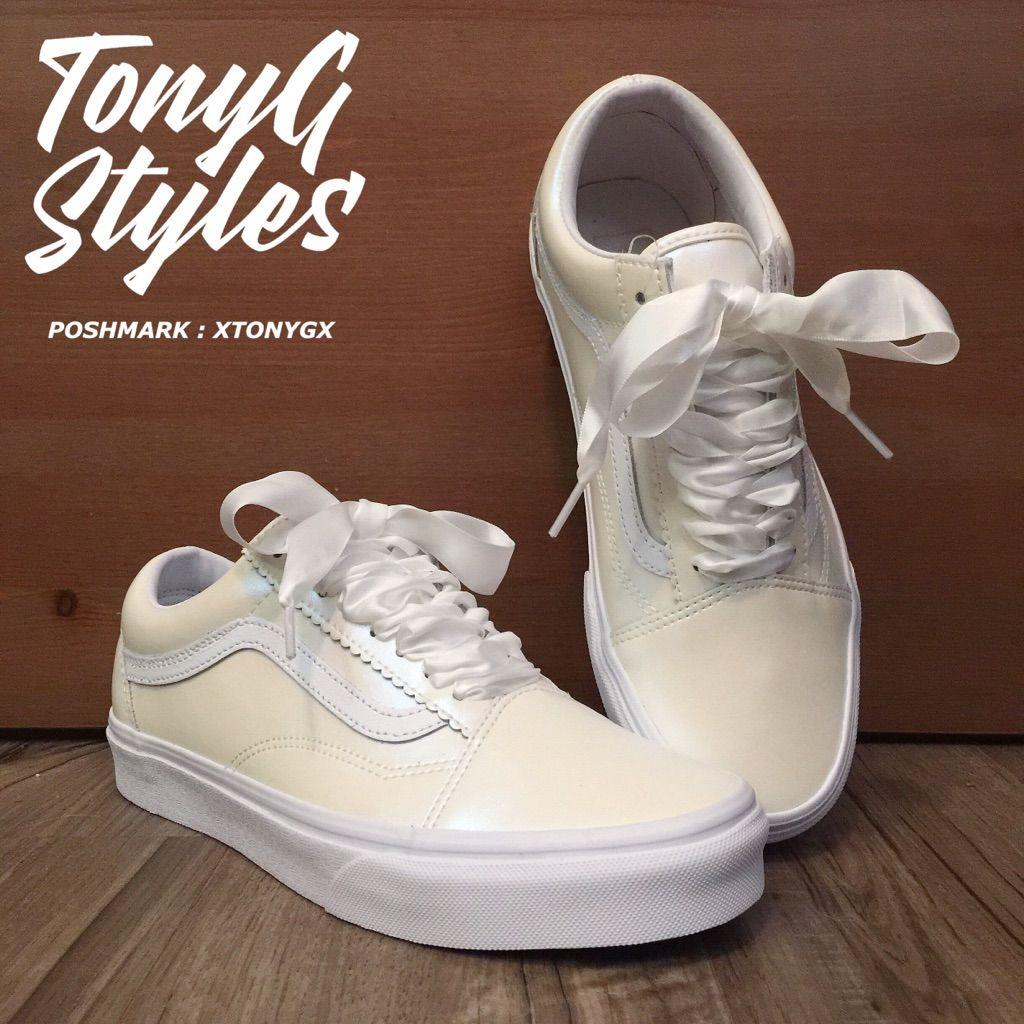 Vans Shoes | New Vans Pearl Old Skool | Color: White | Size