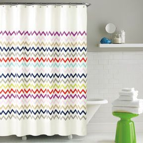 Kate Spade New York Brightwater Ave Fabric Shower Curtain On