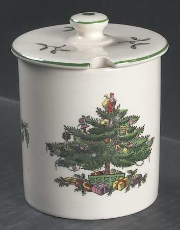 Spode Christmas Tree (Green Trim) Marmalade  Lid Spode Christmas