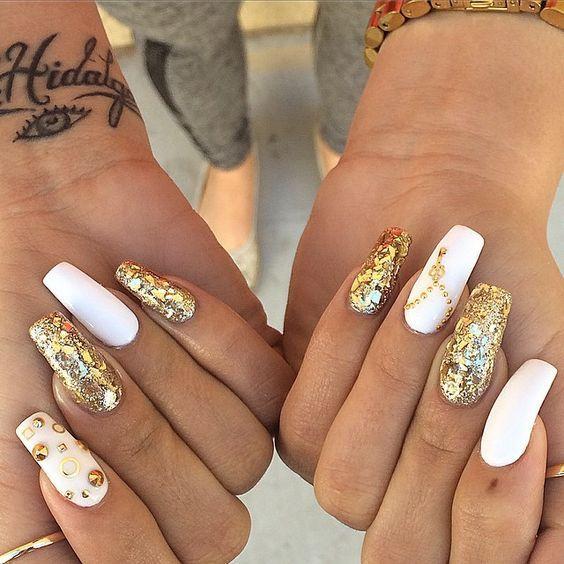 Coffin   Acrylic Nails   Pinterest   Mani pedi, Make up and Pedi