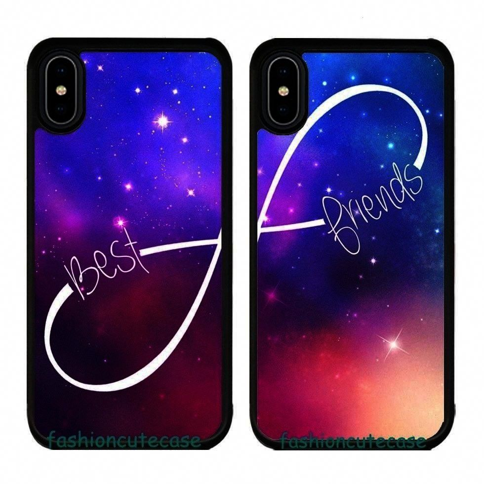 Couple Rubber Phone Case Cover For iPhone XS Mar Samsung Galaxy.... - Izzy -BFF Best Friend Couple