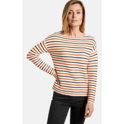 Photo of Gerry Weber pullover with fashionable stripes red / orange / ecru / white stripes women Gerry Weber