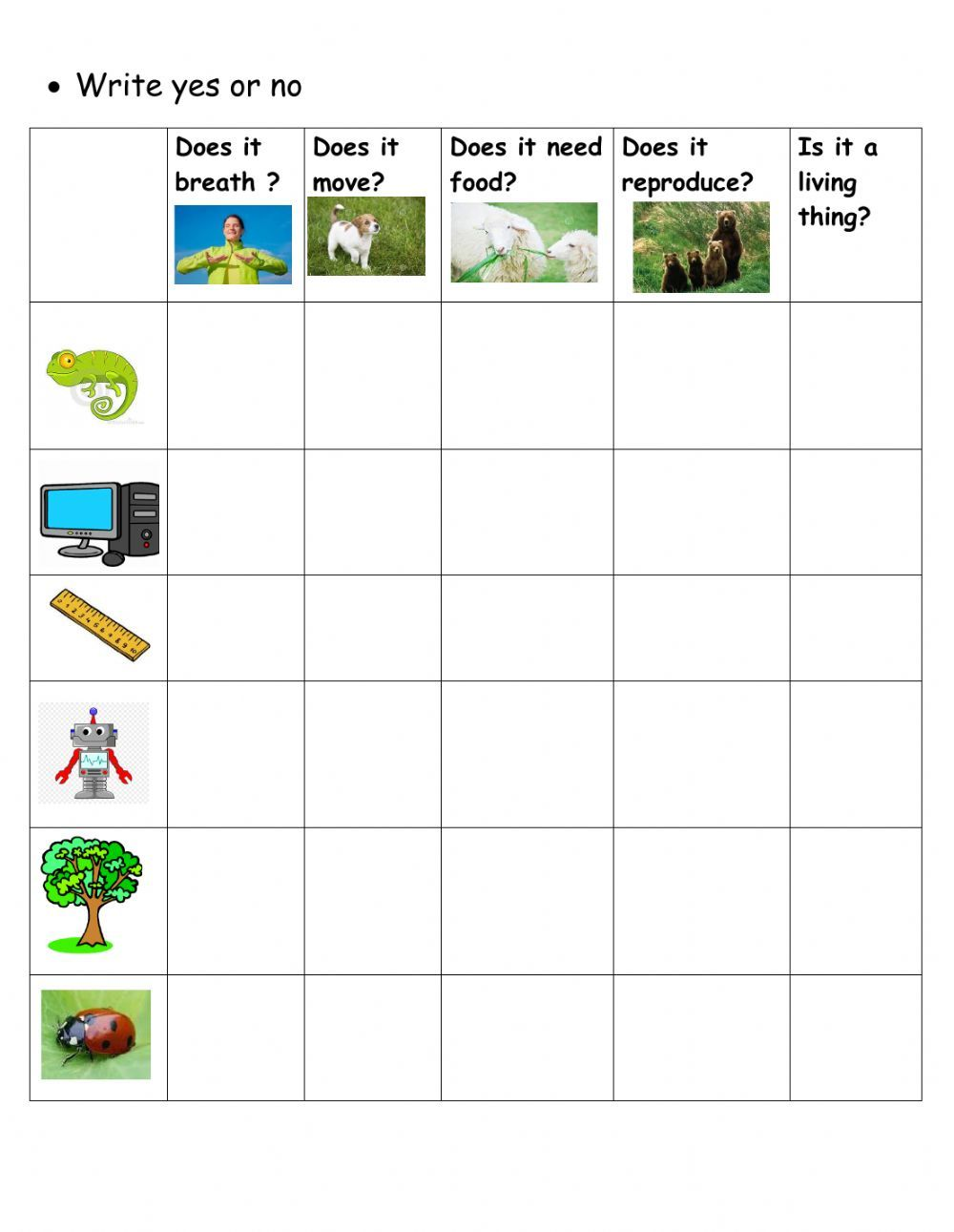 Living Things And Non Living Things Interactive Worksheet Science Worksheets Living And Nonliving Fun Worksheets For Kids [ 1291 x 1000 Pixel ]