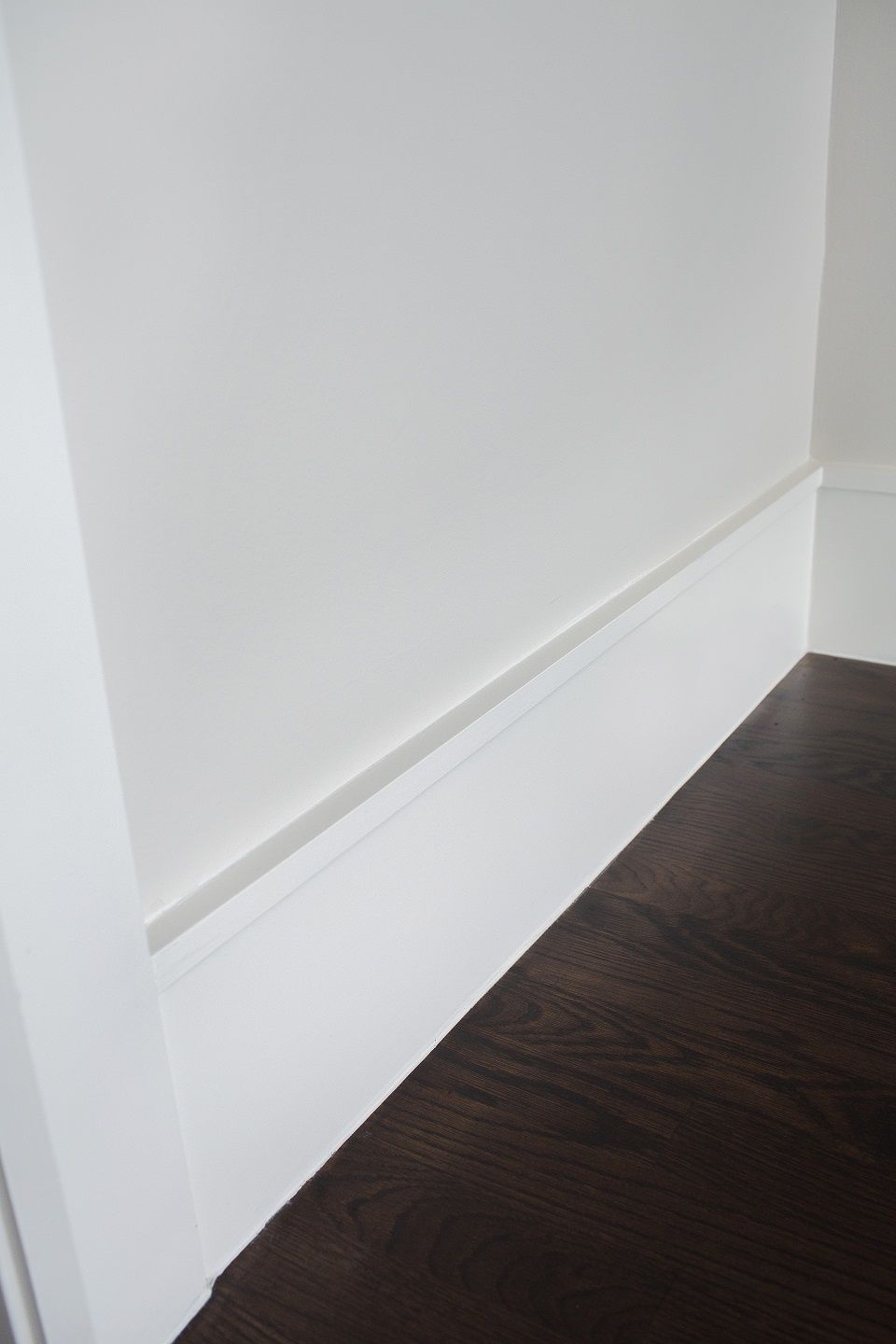 Clean modern baseboard idea BUILT INS WOODWORK